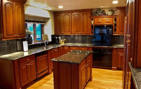cherry wood kitchen cabinets with black granite cherry kitchen cabinets with kitchens with cherry 9804