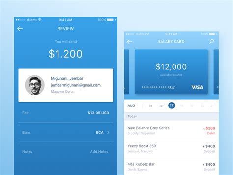 Banking Mobile Application by Mobile Banking App Popular Dribbble App Design