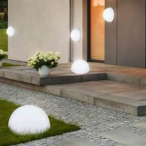 Lampen Für Den Garten : moderne led halbkugel solarleuchte f r den garten ~ Whattoseeinmadrid.com Haus und Dekorationen