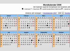 Jahreskalender, Mondkalender, Feiertage, Schaltjahre