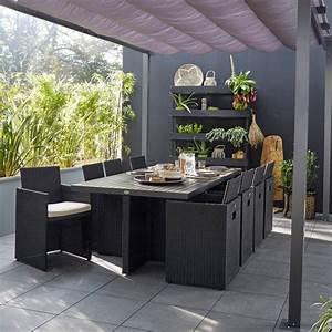 salon de jardin table fauteuil chaise salon de jardin With salon de jardin bois leroy merlin 1 salon de jardin portofino bois naturel 1 table 2