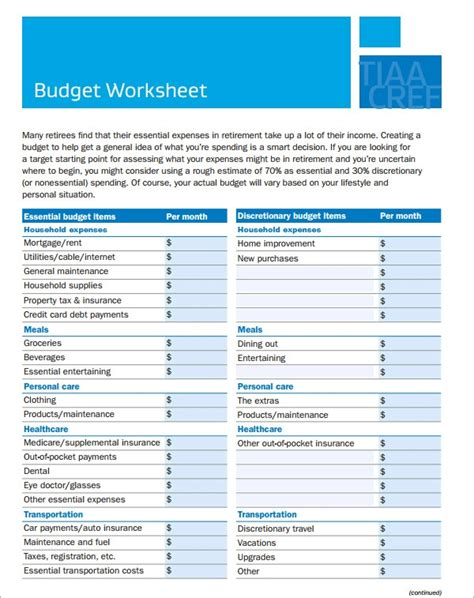 household budget samples sample templates