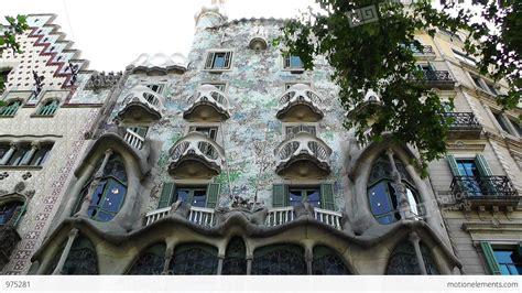 Barcelona Gaudi House 01 Stock Video Footage 975281