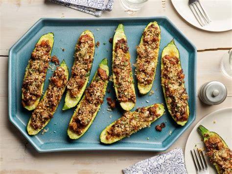 Stuffed Zucchini Boats Recipe by Sausage Stuffed Zucchini Boats Recipe Nancy Fuller