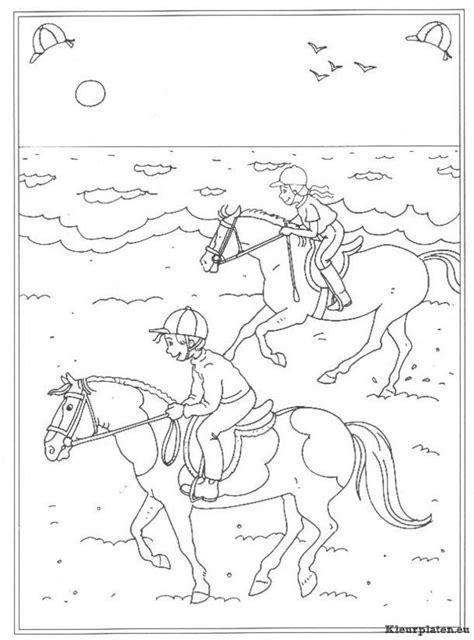 Kleurplaat Paarden Manege by Op De Manege Kleurplaten Kleurplaten Eu
