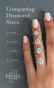 13 best carat comparison images on pinterest engagements With wedding ring diamond size