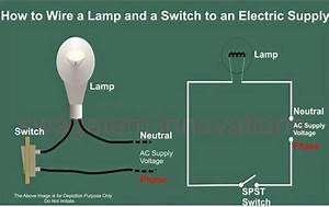 How To Wire A Switch And A Load  A Light Bulb  To An