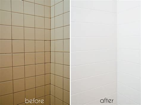 bathroom tile makeoverwith paint ramshackle glam