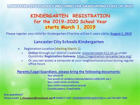 kindergarten registration starts march st information