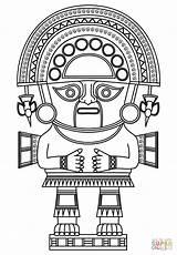 Coloring Inca God Maya King Colorear Incas Printable Kleurplaten Aztec Animals Dibujos Peruvian Crafts Arte Koning Azteca Kleurplaat Dibujo Supercoloring sketch template