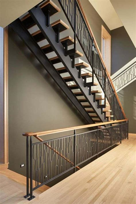 interior stair railing wrought iron railing for indoor or outdoor stairs hommeg