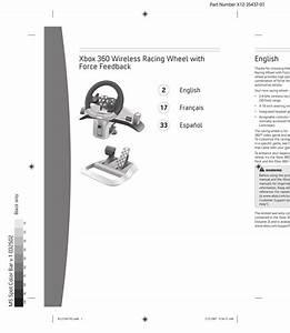 Microsoft Xbox 360 Wireless Racing Wheel User Guide