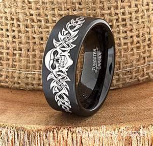 biker wedding rings skull wedding band skull ring biker wedding band by boundlessbands