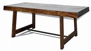 Table Industrielle Bois : manchester table rectangulaire au style industriel mobilier moss ~ Teatrodelosmanantiales.com Idées de Décoration