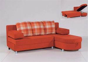Furniture l shaped orange sleeper sofa with curved chaise for Sectional sleeper sofa with storage and pillows