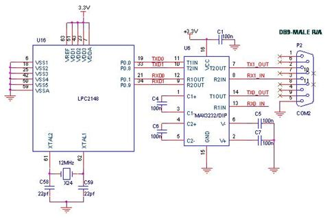 interface gsm  lpc arm development board