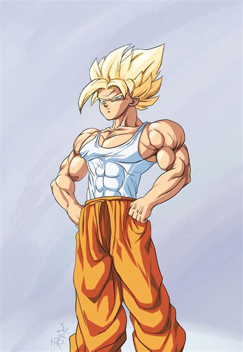 Commission Goku Super Saiyan By Phantomstudio Tommy On