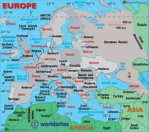 Europe Capital Cities Map and Information Page