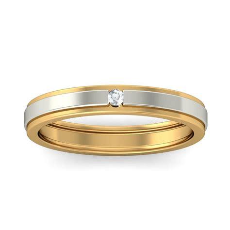 affordable  diamond wedding band   tone gold