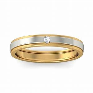 affordable round diamond wedding band in two tone gold With wedding rings two tone gold