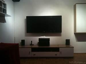 Fernseher An Der Wand : tv wand hifi bildergalerie ~ Frokenaadalensverden.com Haus und Dekorationen