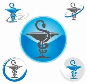 Pharmacy logos design vector 02 - Vector Logo free download