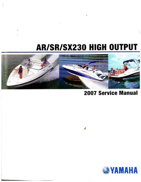 Boat Service Manuals by 2007 Yamaha Sxt1100 Sport Boat Service Manual