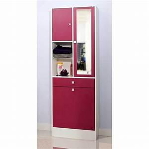 armoire salle de bain bac a linge integre fuchsia With salle de bain design avec armoire salle de bain