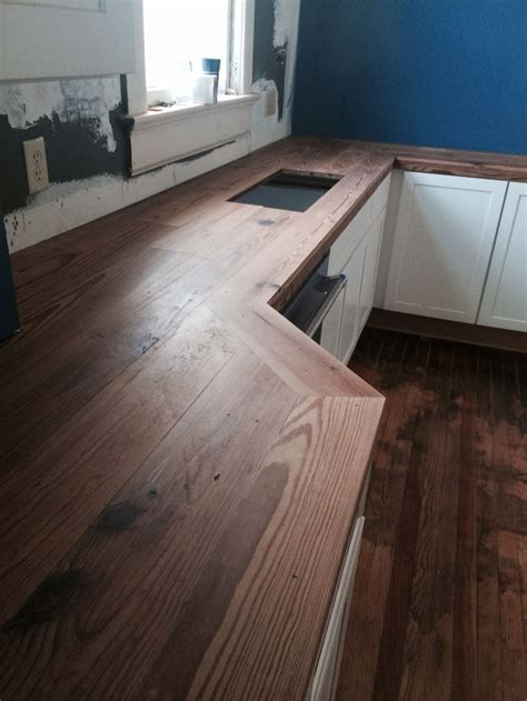 home  counter tops sanded   polyurethane