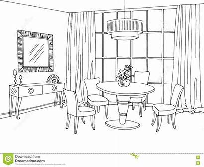 Dining Illustration Graphic Sketch Vector