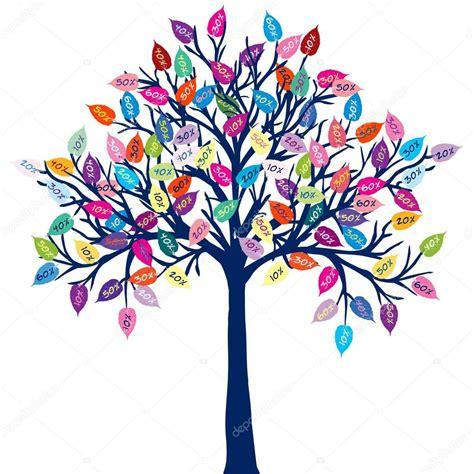albero clipart albero colorato vettoriali stock 169 hibrida13 55972337