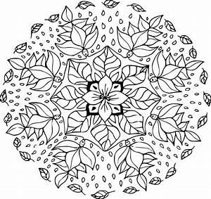 Feuilles D Automne à Imprimer : coloriage mandala feuille dautomne imprimer sur coloriages coloriage d automne ~ Nature-et-papiers.com Idées de Décoration
