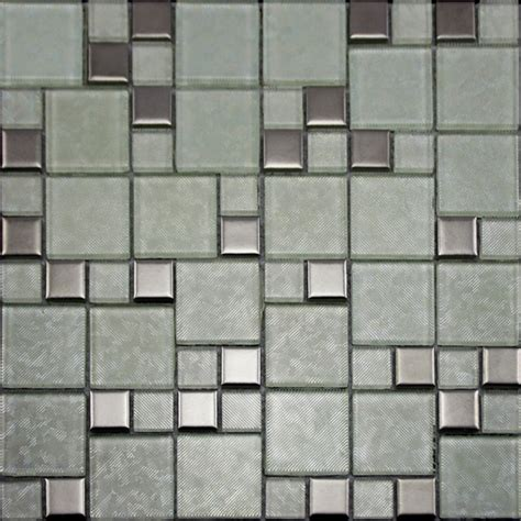 glass tiles brushed patterns bathroom wall tile