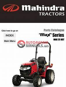 Mahindra Tractor Max Series 25 Hst Parts Manual