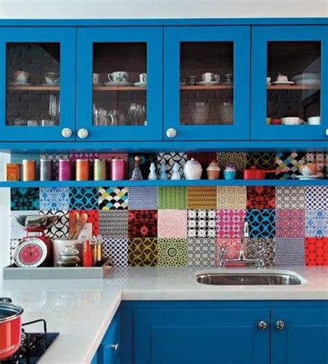 colourful kitchen tiles stylish and colorful kitchen backsplash ideas decozilla 2373