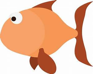 Free Clipart Of An orange fish