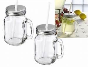 Bocal Avec Paille : pot bocal publicitaire mason avec paille mason straw ~ Teatrodelosmanantiales.com Idées de Décoration