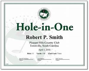 hole in one award certificate only 1800 certificates With free hole in one certificate template