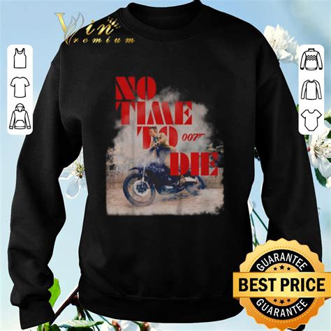 Awesome No time to die 007 poster shirt sweater, hoodie ...