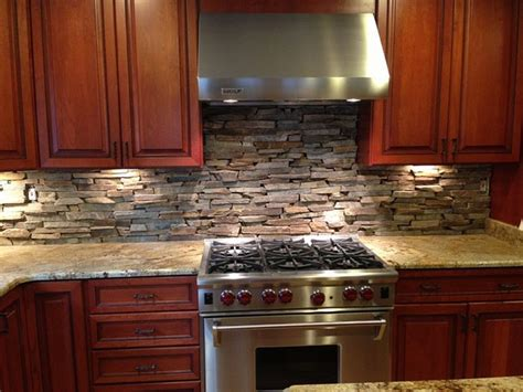 Natural Stone Kitchen Backsplash Ideas  Decoor