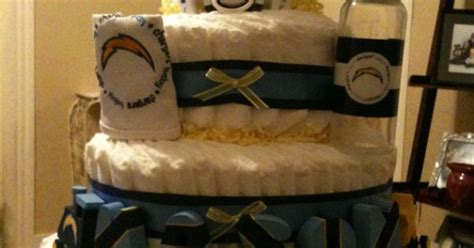 San Diego Chargers Diaper Cake