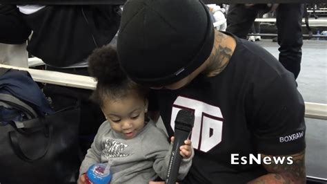 In april 2018, the lovely couple welcomed a baby girl. Must See Gervonta Davis Daughter Steals The Show & Mic Interview Her Dad EsNews Boxing - YouTube