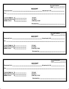 printable receipt template receipt printable pages
