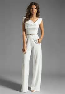 black jumpsuit for wedding black halo jackie jumpsuit in white winter white lyst