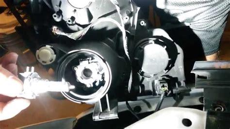 kia sedona headlight replacement youtube