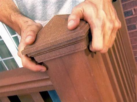 installing  deck railing  tos diy