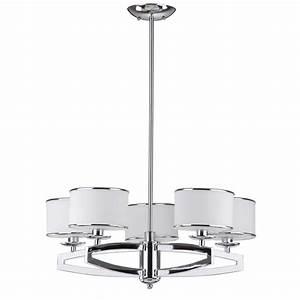 Drum pendant lighting white : Safavieh lenora drum light chrome pendant chandelier