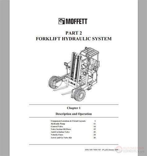 moffett forklift m50 m8 m40 m5 hydraulic system part 2