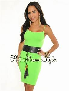 Neon Green Seamless Perfect Fit Spaghetti Straps Dress