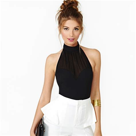 halter blouse beat the heat in a high neck halter strutting in style